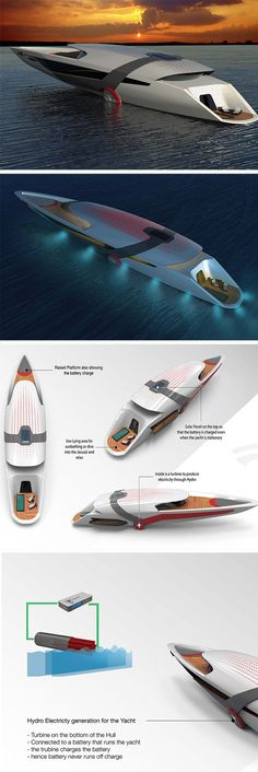The all-electric #Tesla Model Y yacht is a self-sustaining design that charges itself, with a little help from the sun and sea.
