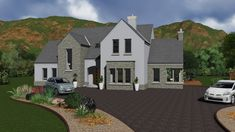 dorm151 House Layout Plans, New House Plans, House Layouts, Dormer Bungalow, Self Build Houses, Ireland Homes, Dream House Exterior, Architect House, House Roof
