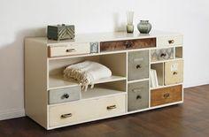 Un mix de cajones en un mueble / Drawers mix into one piece