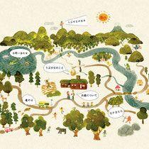 梁川友世 イラストレーション - Tomoyo Yanagawa Illustration Web Design, Book Design, Graphic Design, Map Projects, Nature Posters, Map Art, Plans, Book Illustration, Doodle
