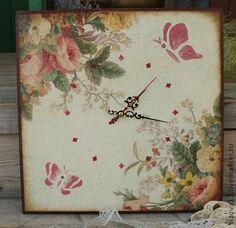 "Часы для дома ручной работы. Ярмарка Мастеров - ручная работа Часы ""Летние"". Handmade."