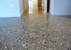 Flooring, polished concrete is very industrial and suitable to audience and building!