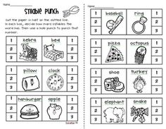 Peterson's Pad: syllables.  Syllable Punch - kids would love to get to use the hole punch!