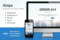404 Page Template Simpo Responsive