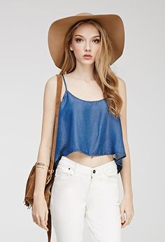 Cropped Chambray Cami | Forever 21 - 2000097864