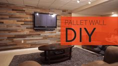 See how to make an amazing accent wall using pallets. It's so simple and easy you can easily do this as a weekend project. Best of all, it's a cheap project