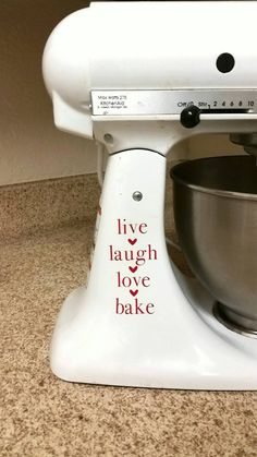 42 best kitchenaid mixer decals images vinyl decals kitchenaid rh pinterest com
