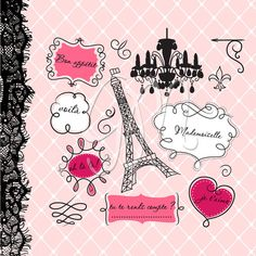 12 Digital Frames clip art with Digital Paper by GraphicMarket, $4.99