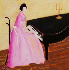 Recital in Pink A Night To Remember, Rhythm And Blues, Beautiful Mind, Recital, Figure Painting, Figurative, Lady In Red, Aurora Sleeping Beauty, Abstract