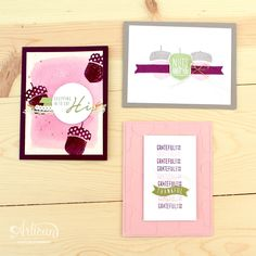 Acorny Thank You - Stampin' Up! Artisan Blog Hop / Create with Kaitlyn