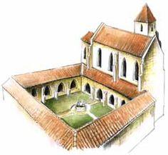 Výsledek obrázku pro kláštory v stredoveku Mansions, House Styles, Home Decor, Decoration Home, Manor Houses, Room Decor, Villas, Mansion, Home Interior Design