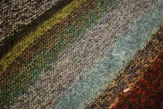[Updated February 2, 2010] The best thing about knitting a garter-stitch blanket on the bias with leftover stash yarn and recycled fiber I...