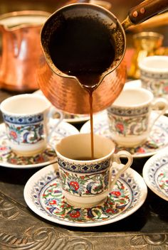 Get the biggest energy and flavor boost from the tiniest cup of Arabic and Turkish coffee! Learn how to make coffee the traditional way, and the 21st century way with a modern shortcut. How To Make Coffee, I Love Coffee, Best Coffee, Coffee Break, Morning Coffee, Coffee Tasting, Coffee Cafe, Coffee Drinks, Coffee Mugs