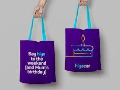 SomeOne Rebrands Car Sharing Start-Up, 'Hiyacar' Brand Identity, Branding, Business Launch, Mum Birthday, Branded Bags, Little Books, Tattoo Studio, Logo Design, Graphic Design