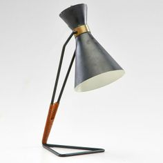 Cantilevered table lamp with adjustable shade, France, ca. 1950s