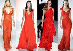 Ярко-красные наряды