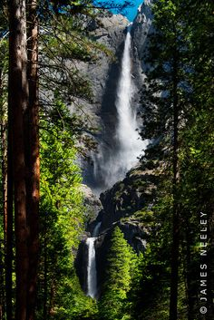Yosemite falls.... climb to that rock sticking out where the two water falls almost meet :D