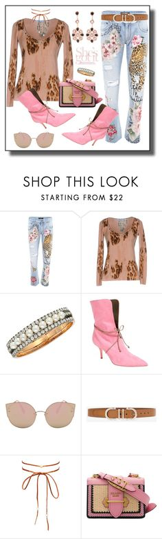 """"""""""" She Believed She Could So She Did """""""" by polymeme ❤ liked on Polyvore featuring Dolce&Gabbana, Blumarine, Malone Souliers, White House Black Market, Chan Luu and Prada"""