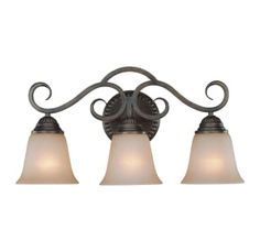 View the Craftmade 26003 Gatewick 3 Light Bathroom Vanity Light - 21 Inches Wide at LightingDirect.com.