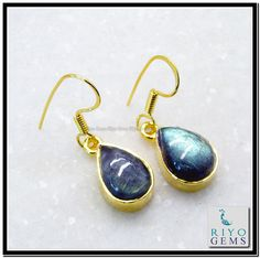 Antique Earrings, Gold Plating, Labradorite, Fashion Earrings, 18k Gold, Drop Earrings, Gemstones, Antiques, Jewelry