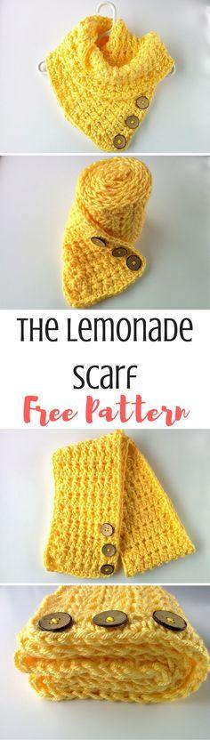 http://www.theblueelephants.com/2017/03/star-stitch-lemonade-scarf.html Free crochet pattern