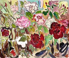 'Roses and Japanese Eggplant'  By Vivian Reiss