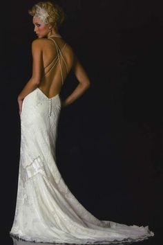 love this low back dress