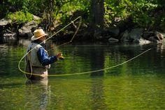 Fly fishing, Watauga River, Watuaga County NC