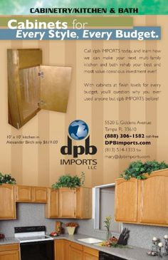 ad for dpb Imports kitchen and bath rehab, featured in the January 2010 issue of The Apartment-Condominium Vendor Guide. Check out the Guide at http://www.facebook.com/apartmentcondominiumvendorguide Designed by Bonhomie Creative, bonhomiecreative.com #apartment #multifamily