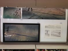 My matric art - Thematic Drawing (top); final artwok (left); and process drawings (right)