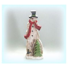 Christmas Snowman Decor Country Christmas Decoration Holiday Snowman... ($35) via Polyvore featuring home, home decor, holiday decorations, holiday ornament, snowman ornaments, snowman home decor and holiday home decor