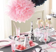 décoration anniversaire fille thème Paris Paris girl birthday