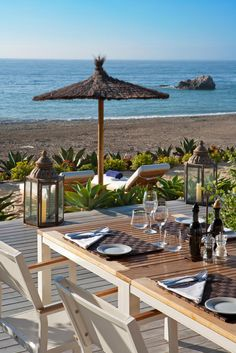 Nice view from the Beach club restaurant at Finca Cortesin