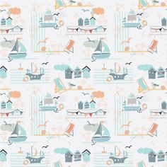 Christine Gardner | You and me by the sea | The Ultimate Portfolio Builder | May 2015 class | The Art and Business of Surface Pattern Design | Make it in Design