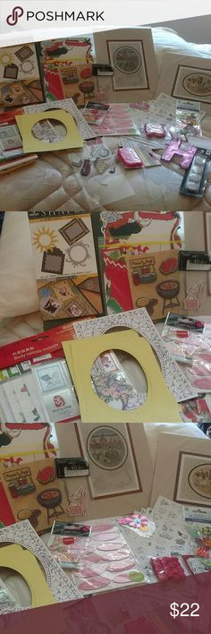 Large scrapbooking sticker lot C Everything is Factory sealed except for a few that are in really good condition Other