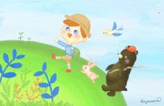 Hiking illustration by kazuemon