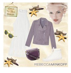 """""""RebeccaMinkoff Gone To The Beach"""" by seadbeady ❤ liked on Polyvore featuring Rebecca Minkoff, GINTA, women's clothing, women, female, woman, misses, juniors, contestentry and seebuywear"""