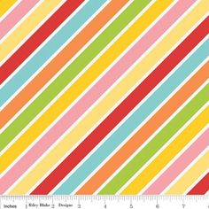 Hello Sunshine  Hello Stripe Multi by Lori by lilyrosequilts, $9.99