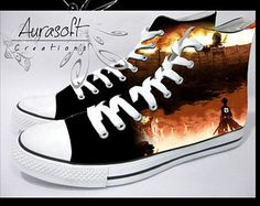 attack on titan shoes converse - Google Search