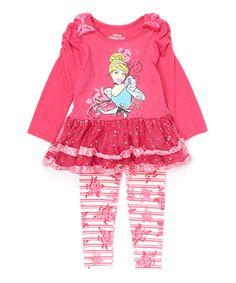 Loving this Disney Princess Cinderella Dress & Leggings - Toddler & Girls on #zulily! #zulilyfinds