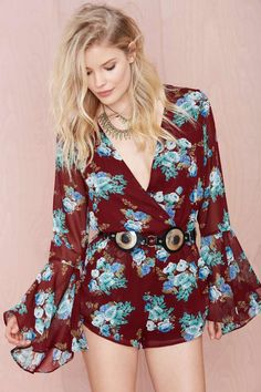 Bell All Romper - Wine   Shop What's New at Nasty Gal