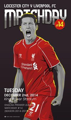 ♠ Matchday #14 - Leicester VS Liverpool FC #LFC #Artwork