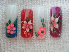 Beach Nail Art, Beach Nails, Cherry Blossom Nails, Animal Nail Art, Floral Nail Art, Eyeliner, Nail Art Stickers, Flower Nails, Pink Nails