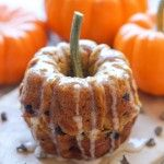 Mini Pumpkin Bundt Cakes with Cinnamon Glaze