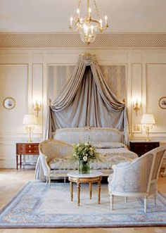 Beautiful French bedroom.