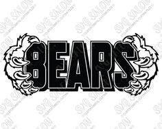 Bears High School Team Claw Frame Custom DIY Iron On Vinyl Shirt Decal Cutting File in SVG, EPS, DXF, JPEG, and PNG Format