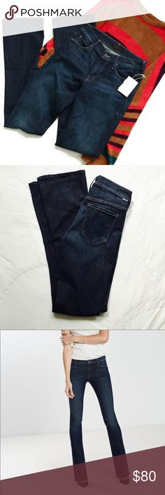 Mother The Runaway Jeans These Versatile bootcut jeans by Mother feature a laid-back-yet-sophisticated deep blue wash that crafts a leg-lengthening silhouette that sculpts your form and streamlines your curves.  Stretch and comfortable with a 34 inch inseam.  Brand new with tags! MOTHER Jeans Boot Cut