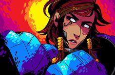 """koolaid-girl: """" Pharah for @prpldragon MS Paint doodling """""""