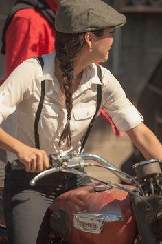 #triumph #girl #motorcycles #motos | caferacerpasion.com