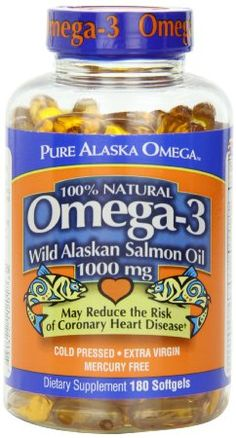 Pure Alaska Omega-3 Wild Alaskan Salmon Oil  1000mg Softgels  180-Count (available online and at Costco).